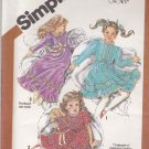 Simplicity Sewing Pattern 5354 Girls Size 3 Cinderella Long Short Ruffled Dress Kimberly Doll Dress