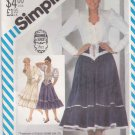 Simplicity Sewing Pattern 5607 Misses Size 8 Gunne Sax Full Ruffled Hem Skirt Blouse Sleeve Options