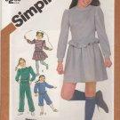 Simplicity Sewing Pattern 5771 Girls Size 8-10 Knit Wardrobe Pants Kickers Mini-Skirt Tops