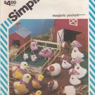 Simplicity Sewing Pattern 6353 Marjorie Puckett Barnyard Animals Pig Sheep Goose Chicks