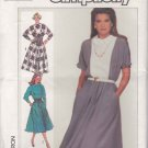 Simplicity Sewing Pattern 7376 Misses Size 6-10 Easy Color Blocked Contrast Dress