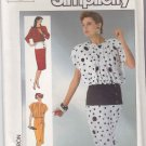 Simplicity Sewing Pattern 7503 Misses Size 10 Blouson Dress Short Long Sleeves