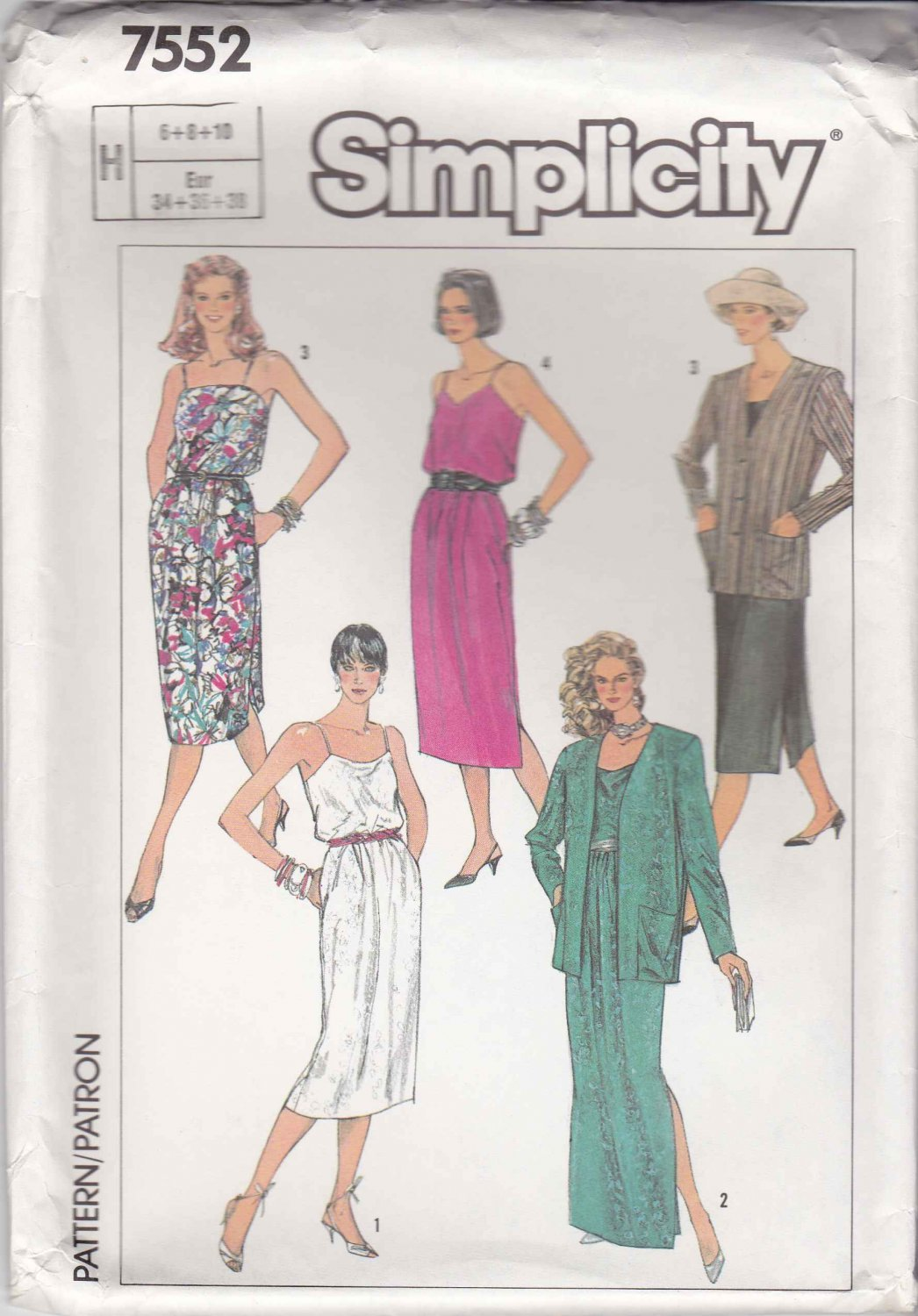 Simplicity Sewing Pattern 7552 Misses Size 6-10 Easy Summer Sundress Sleeveless Dress Jacket
