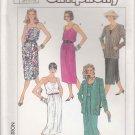 Simplicity Sewing Pattern 7552 Misses Size 6-10 Easy Summer Sundress Sleeveless Dress Jacket