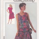 Simplicity Sewing Pattern 7556 Misses Size 6-10 Dropped Waist Gathered Skirt Dress Sundress