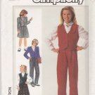 Simplicity Sewing Pattern 7657 Girls Size 10 Wardrobe Pants Skirt Lined Vest Jacket