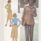 Simplicity Sewing Pattern 7662 Misses Size 10 Unlined Jacket Skirt Pants Suit Pantsuit