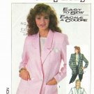 Simplicity Sewing Pattern 7852 Misses Size 6-10 Easy Double Single Breasted Unlined Jackets