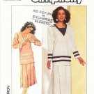 Simplicity Sewing Pattern 7883 Misses Size 8 Two Piece Dress Straight Pleated Skirt