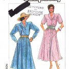 Simplicity Sewing Pattern 7939 Misses Size 6-12 Easy Button Front Flared Skirt Dress Sleeve Options