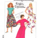 Simplicity Sewing Pattern 8014 Misses Size 6-12 Easy Knit Full Skirt Dress Sleeve Options