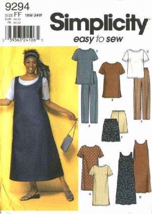 Simplicity Sewing Pattern 9294 Women\'s Plus Size 26W-32W Easy ...
