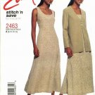 McCall's Sewing Pattern 2463 Misses Size 8-14 Easy Princess Seam Dress Long Sleeve Jacket