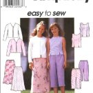Simplicity Sewing Pattern 8550 Girls Size 7-8-10 Easy Wardrobe Top Pull On Skirt Pants Jacket