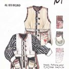 Revisions Sewing Pattern 104 Misses Size XS-XXL Long Sleeve Button Front Jacket Vest