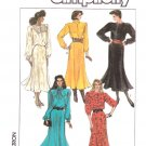 Simplicity Sewing Pattern 8174 Misses Size 10-16 Long Sleeve Gored Skirt Dress Neckline Options