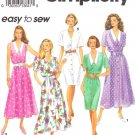 Simplicity Sewing Pattern 8227 Misses Size 6-10 Easy Classic Button Front Dress Skirt Sleeve Options
