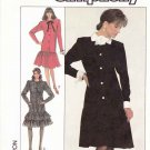 Simplicity Sewing Pattern 8384 Misses Size 6-10 Long Sleeve Button Front Dropped Waist Dress