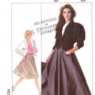 Simplicity Sewing Pattern 8388 Misses Size 8 Dolman Sleeve Unlined Jacket Full Flare Skirt