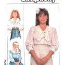 Simplicity Sewing Pattern 8403 Girls Size 7-10 Button Front Blouse Trimmed Collar Sleeve Options