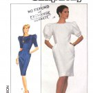 Simplicity Sewing Pattern 8485 Misses Size 10 Back Button Short Sleeve Dress Pleated Pockets