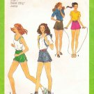 Simplicity Sewing Pattern 8962 Junior Size 7 One-Yard Shorts Three Styles