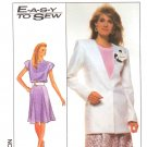 Simplicity Sewing Pattern 9010 Misses Size 6-8 Easy Jacket Flared Skirt Top Suit