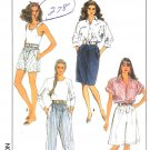 Simplicity Sewing Pattern 9028 Misses Size 10 Shorts Pants Straight Skirt Walking Shorts