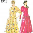 Simplicity Sewing Pattern 9811 Misses Size 10-20 Easy Button Front Bodice Dolman Sleeve Dress