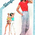 Simplicity Sewing Pattern 9875 Misses Size 6-8 Pull on Long Pants Shorts Elastic Waist