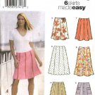 Simplicity Sewing Pattern 5199 Misses Size 14-20 Easy Gored Skirts Length Hemline Trim Options