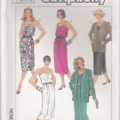 Simplicity Sewing Pattern 7552 Misses Size 10-14 Easy Summer Sundress Sleeveless Dress Jacket