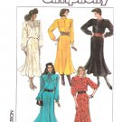 Simplicity Sewing Pattern 8174 Misses Size 12-18 Long Sleeve Gored Skirt Dress Neckline Options