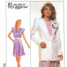 Simplicity Sewing Pattern 9010 Misses Size 22-24 Easy Jacket Flared Skirt Top Suit