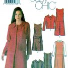 Simplicity Sewing Pattern 5902 Misses Size 4-10 Easy Dress Jumper Button Front  Jacket