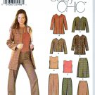 Simplicity Sewing Pattern 5921 Misses Size 4-10 Easy Jacket Skirt Sleeveless Top Shell Pants