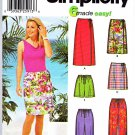 Simplicity Sewing Pattern 5965 Misses Size 6-12 Easy Wrap Front Straight Skirt Pants Shorts Capris