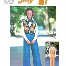 Retro Simplicity Sewing Pattern 7081 Junior Petite Size 7-9 Button Front Vest Wide Leg Pants