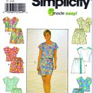 Simplicity Sewing Pattern 7138 Misses Size 6-10 Summer Sleeveless Top Shorts Sarong Style Skorts