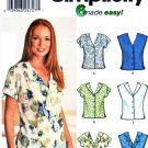 Simplicity Sewing Pattern 7176 Misses Size 6-12 Easy Summer Sleeveless Button Front Blouses