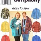 Simplicity Sewing Pattern 7315 Misses Size 18-24 Easy Zipper Button Front Long Sleeve Jacket
