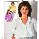 Simplicity Sewing Pattern 7562 Misses Size 10-12-14 Button Front Three Quarter Length Sleeve Blouse