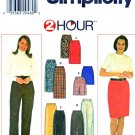 Simplicity Sewing Pattern 7693 Misses Size 12-18 Straight Long Short Skirt Pants Shorts