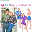 "Simplicity Sewing Pattern 8150 Misses Mens Unisex Chest Size 30-40"" Shorts Button Front Shirt Tie"
