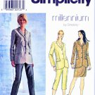 Simplicity Sewing Pattern 8624 Misses Size 4-6-8 Button Front Lined Jacket Slim Wrap Skirt Pants