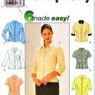 Simplicity Sewing Pattern 8872 Misses Size 14-20 Easy Button Front Blouses Shirts Sleeve Variations