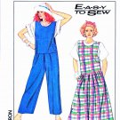 Simplicity Sewing Pattern 9044 Misses Size 18-20 Easy Dropped Waist Jumper Jumpsuit