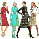 Retro Simplicity Sewing Pattern 9576 Misses Size 12 Long Sleeve Front Wrap Skirt Dress Scarf