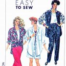 Simplicity Sewing Pattern 9603 Misses Size 6-14 Easy Wardrobe Pants Shorts Top Shell Big Shirt