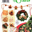 Simplicity Sewing Pattern 9768 No Sew Christmas Decorations Gingerbread House Cookies